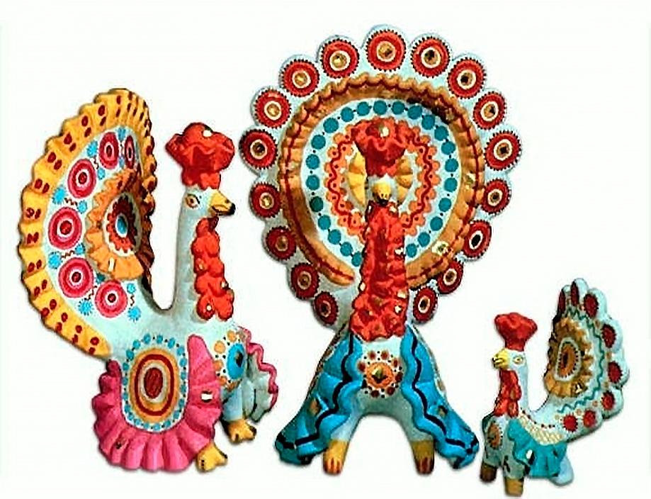 Раскраска глиняная игрушка